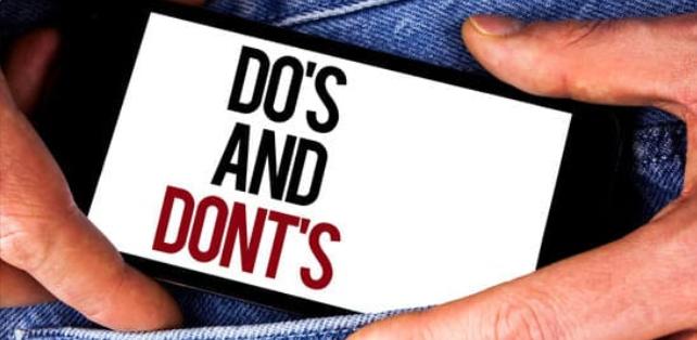 do not to do