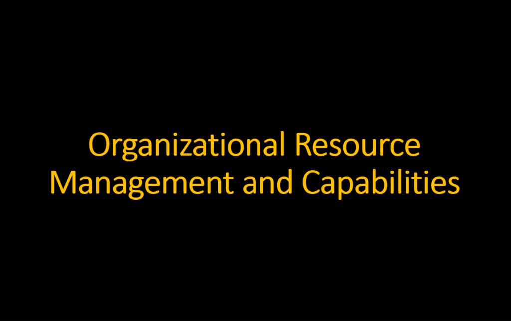 ماتریس مدیریت سبد منابع و قابلیتهای سازمان